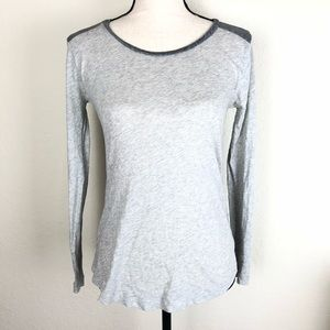 Madewell XS Gray two-toned Long Sleeve T-shirt
